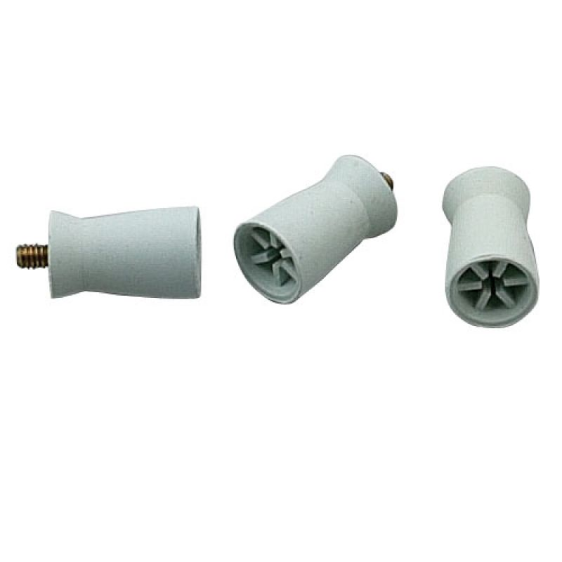 Rubber Screw In Cups White Packet Of 36